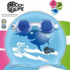 Набор для плаванья  BECO Sealife® I (шапочка+окуляри) (96059 6)  (голубой)