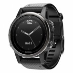Спортивные часы Garmin Fenix 5S Sapphire Slate grey with black band (W1702)