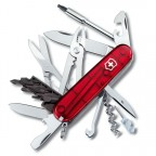 Нож Victorinox CyberTool 34 Red Trans 1.7725.T