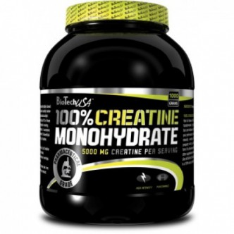BioTech USA Nutrition 100% CREATINE MONOHYDRATE банка - 1000g