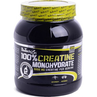 BioTech USA Nutrition 100% CREATINE MONOHYDRATE банка - 500g