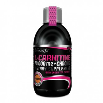 BioTech USA Nutrition L-CARNITINE+СHROME 70 000 500мл - апельсин