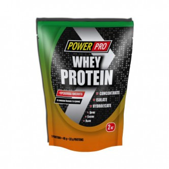 Power Pro Whey Protein, 2 кг - банан-земляника
