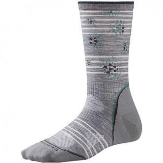 Smartwool SW039.145-M Women's PhD Outdoor Ultra Light Pattern Crew light gray/canton р.M