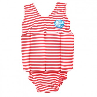 Splash About Floatsuits White Red Stripe M