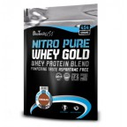 Протеин BioTech USA Nutrition NITRO PURE WHEY GOLD 454 g пакет - dark chocolate