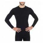 Термофутболка BRUBECK ACTIVE WOOL LS12820 black L (56476)