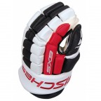 Перчатки хоккейные Fischer Hockey SX9 Gloves Black / White / Red, 13 (H03514.16.13)