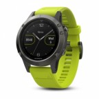 Спортивные часы Garmin Fenix 5 Slate grey with amp yellow band (W1707)