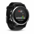 Умные часы Garmin Fenix 5S Silver with black band (W1701)
