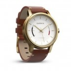 Смарт-часы Garmin Vivomove Premium Gold-Tone Steel with Leather Band (W1063)