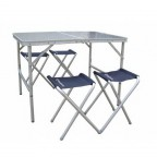 Набор мебели KingCamp  TABLE AND CHAIR SET (KC3850) Silver