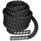 Канат для кроссфита LiveUp 12 м BATTLE ROPE Black (LS3676-12)