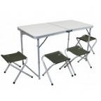 Набор мебели Pinguin SET TABLE + 4 STOOLS (PNG 621006 GREEN)