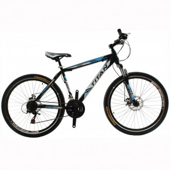 "Titan Everest 26"" 18"" 2016 Black Blue"